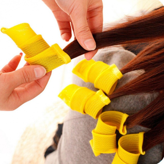 Colorful and Flexible Hair Curlers Set with Plastic Hook