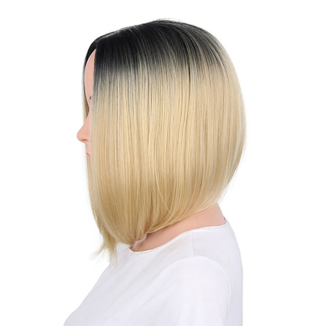 Colorful Short Straight Wig with Synthetic Hair