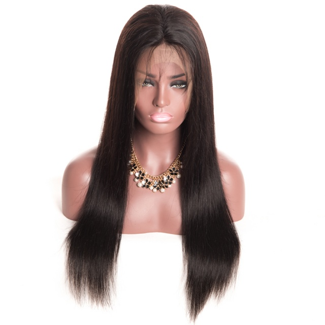 Beautiful Straight Wig with Natural Brazilian Hair